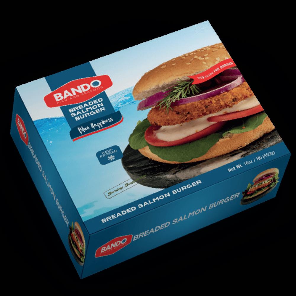 Breaded Salmon Burger